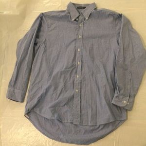 Izod Plaid Poplin Shirt Men's Large 16 1/2 34/35